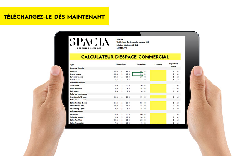 calculateur espace spacia