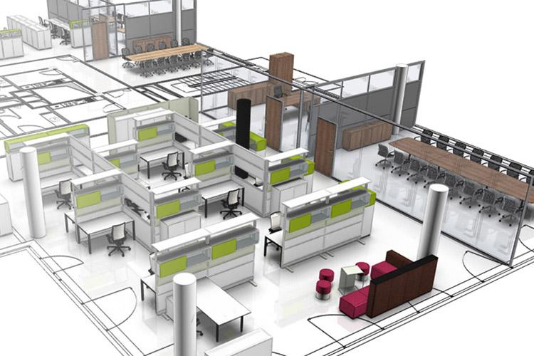 calculez la superficie n cessaire d un espace de bureau. Black Bedroom Furniture Sets. Home Design Ideas