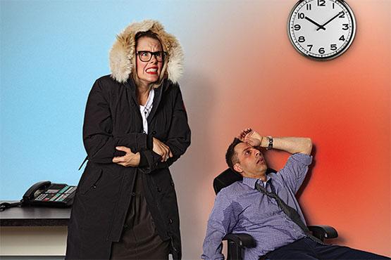 température de vos bureau